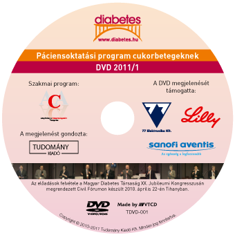 Diabetes – Páciensoktatási program DVD kiadás 1.
